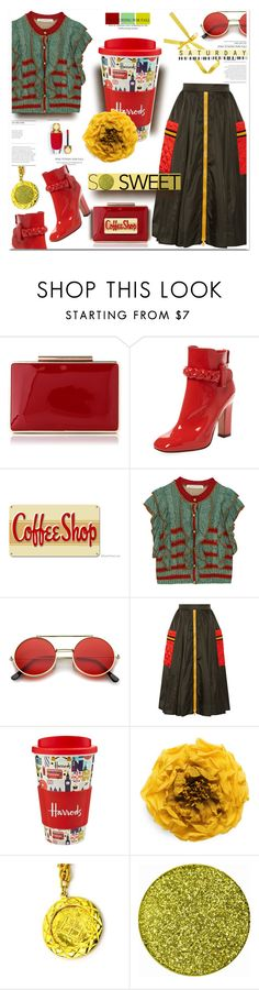 """"""" #592 Happy Weekend """" by wonderful-paradisaical on Polyvore featuring Valentino, Coffee Shop, Philosophy di Lorenzo Serafini, ZeroUV, Prada, Harrods, Gucci, Chanel, Winter and ootd"""