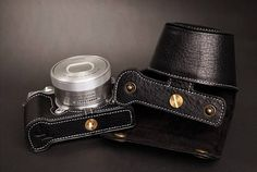 Nikon J5 Leather Cameras Case, J5 full Camera Case, Nikon J5 full body Case, Handmade Leather Camera Protector Each Camera could be made a same color and material neck Strap. If you need, please contact me directly. 【Price】: Price $139 includes: Half Case,Full Case, Wrist Strap Price