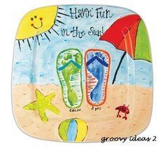 beach fun footprints