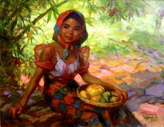 Fernando Amorsolo - Fruit Gatherer