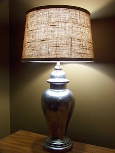 Today's project is a burlap lampshade with a little bonus DIY project....a mercury glass lamp.  We were inspired by some really great ...