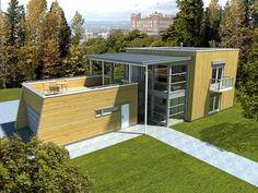 Bilderesultat for flatt tak takterrasse Flat Roof, Outdoor Furniture, Outdoor Decor, Outdoor Storage, Garage Doors, Shed, Deck, Outdoor Structures, Interior