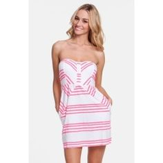 Rip Curl 'Shifting Stripes' Strapless Body-Con Dress (Juniors) Bright Pink X-Small - product - Product Review