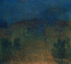 Nocturno - Antonín Slavíček Pastel on cardboard 1902.