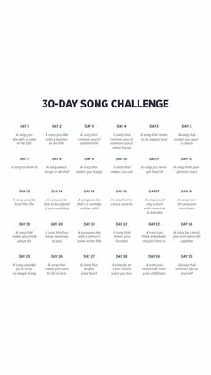 Song Challenge – What can people do in 30 days 30 Day Instagram Challenge, 30 Day Music Challenge, Challenge For Teens, Writing Challenge, Instagram Story Questions, Instagram Story Ideas, Instagram Music, Instagram And Snapchat, Instagram Story Template