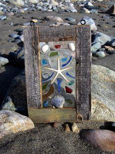 wood framed sea treasures.
