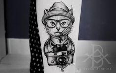 #blackwork #dotwork #tattoo #blacktattoo #dotworkers #tatuagem #cat #cattattoo #photo #catblackwork