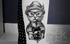 #blackwork #dotwork #tattoo #blacktattoo #dotworkers #tatuagem #cat #cattattoo #photo #catblackwork