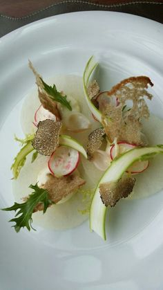 Pear Carpaccio, Pickled Vegetables and Truffle - The ChefsTalk Project