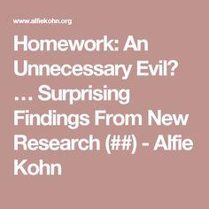 Alfie Kohn Homework An Unnecessary Evil - image 4