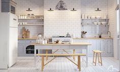 White Scandinavy Home on Behance