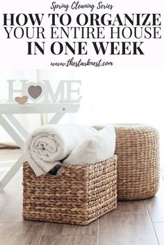 This is an extremely thorough guide to decluttering your entire home. I love that it breaks it down step by step so you only have to focus on one thing each day. Makes it super easy!! #organization #springcleaning