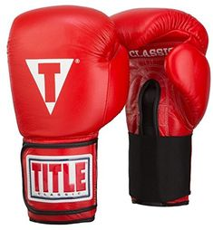 Discounted TITLE Classic Hook-and-Loop Leather Training Gloves Boxing Training Gloves, Boxing Gloves, Title Boxing, Personal Defense, Classic Leather, Leather Cover, Athlete, The Incredibles, Sports