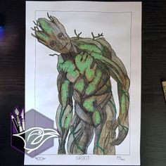 My First Art Commission! All About Me Art, About Me Blog, Derwent Inktense, Emotional Rollercoaster, First Art, Life Is An Adventure, Guardians Of The Galaxy, Marvel Movies, Gouache