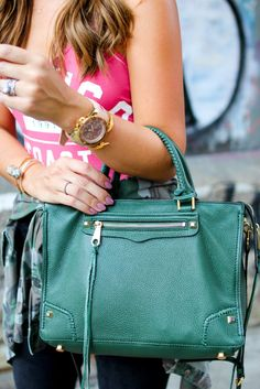 @RebeccaMinkoff green bag