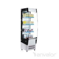 HŰTÖTT KÍNÁLÓ VITRIN, szabadon álló, 220 literes, ventilációs, 3 db polccal - Anvalor