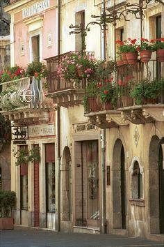 Ancient Street, Taormina, Sicily   can't wait!