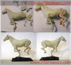 horse sculping tutorials