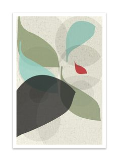 FLOW no.26 - Giclee Print - Mid Century Modern Danish Modern Style Minimalist Modernist Eames Abstract. $24.00, via Etsy.