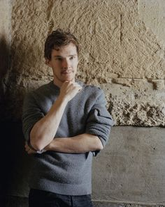 Benedict Cumberbatch. His sweater is made of 100% boyfriend material.