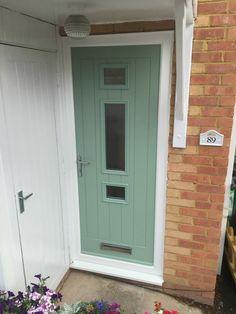 composite door Cream Cottage 1 in Rosewood frame by ...