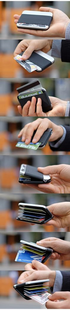 Kristijan Nar is raising funds for CLIPCASE - Truly Unique Wallet on Kickstarter! CLIPCASE is RFID blocking card case / wallet with user changeable appearance. Red Rope, Slim Wallet, Small Leather Goods, Cool Gadgets, Leather Craft, Diy And Crafts, Unique, Wallets, Purses