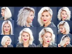 HOW TO: 10 Easy Short HairStyles With Straightener Tutorial | Milabu - YouTube