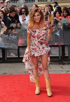 Actress Natalia Tena attends the World Premiere of Harry Potter and The Deathly Hallows - Part 2 at Trafalgar Square on July 7, 2011 in London, England.