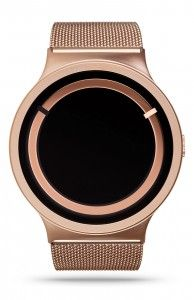 ZIIIRO Eclipse Metallic Rose Gold Watch Front