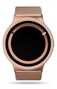 ZIIIRO Eclipse Metallic Rose Gold Watch Front