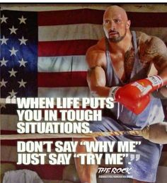 "Dwayne Johnson aka ""The Rock"" is a huge inspiration to millions world-wide. Here are some of the best motivational picture quotes and sayings by Dwayne Johnson. Motivacional Quotes, Motivational Picture Quotes, Rock Quotes, Great Quotes, Quotes To Live By, Inspirational Quotes, Super Quotes, Funny Quotes, Dwayne Johnson Quotes"