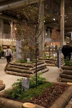 Log raised beds | Chicago Flower & Garden Show 2014