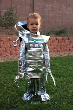 Chasing Fireflies Robot Costume - Robo Kid Costume- Adorable Costume for Boys - Robot Halloween Costume