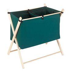 Foldable Laundry #Hamper Double Basket #Cotton Bag Sorter Bin # 64609 Shop --> http://www.rensup.com/Laundry-Bags/Laundry-Bags-Forest-Green-Cotton-Poly-Laundry-Bag-Sorter/pd/64609.htm?CFID=1385051&CFTOKEN=2c12e8122fdbaf46-B9EB2768-CFE6-D385-D1A2993B8CAE7FAF
