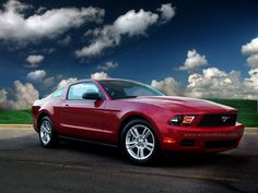 Candy Apple Red 2010 Ford Mustang