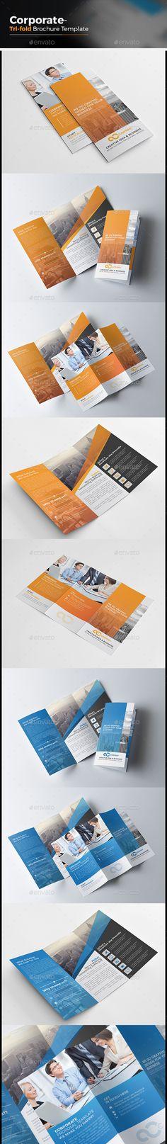 Corporate Tri-fold Brochure Template Vector EPS, AI #design Download: http://graphicriver.net/item/corporate-trifold-brochure/14033340?ref=ksioks