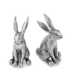 Pewter Easter Rabbit Salt & Pepper Shakers review | buy, shop with friends, sale | Kaboodle