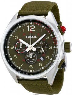 #Fossil #Watch , Men's CH2726 Flight Green Dial Watch