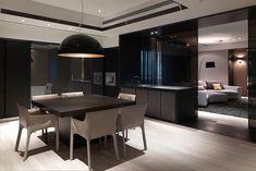 decoracao-escura-e-luxuosa-sala-de-jantar-apartamento-por-kcd