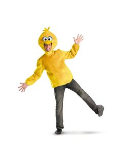 Go on your way to where the air is sweet while wearing the Men's Sesame Street Big Bird Costume.