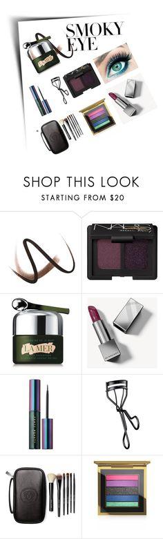 """Jewel tones #smokyeye"" by dreday111 ❤ liked on Polyvore featuring beauty, Burberry, NARS Cosmetics, La Mer, Puma, Bobbi Brown Cosmetics and MAC Cosmetics"
