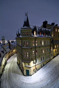 Stockholm, Sweden Winters Night, Stockholm, Sweden | http://www.HotelDealChecker.com/