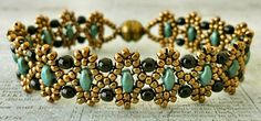 Linda's Crafty Inspirations: Bracelet & Earrings Set: Duo Bobble Band & Marquesa Earrings