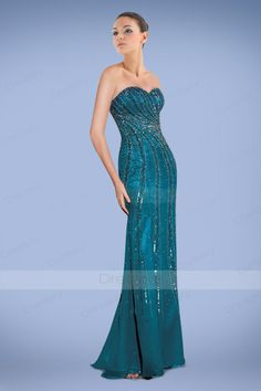 Glorious Sweetheart Sheath Prom Dresses Dress with Gleaming Sequins and Beadings