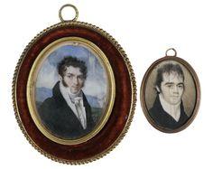 (2) MINIATURE PORTRAITS ON IVORY - Price Estimate: $800 - $1200