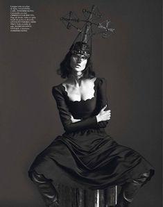 Kate Moss & Saskia de Brauw   Mert & Marcus   Vogue Paris September 2012   'Noir Partie3' - 3 Sensual Fashion Editorials   Art Exhibits - Anne of Carversville Women's News