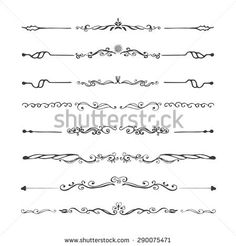 Vintage Dividers And Ornaments Calligraphic Design Elements Page Decoration