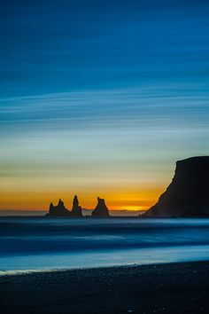 Reynisdrangar at Sunset, Iceland