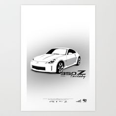 350Z Art Print by IAMzB - $16.00