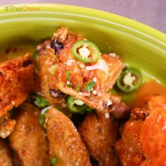 Michael Symon's Crispy Lime and Cilantro Chicken Wings with Sriracha #TheChew500 #TheChew